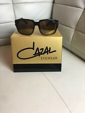 NEW CAZAL 8026 003  VINTAGE LEGEND SUNGLASSES CAMOUFLAGE  GOLD 100% AUTHENTIC