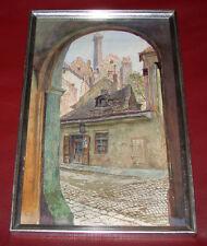 Carl WEISS (1860-1931) Stadtsansicht, Blick durch ein Tor. Nicht signiert.