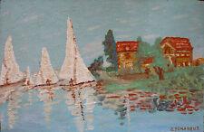 Guillaume DEMARQUE (1925-1969) HsP Jeune Peinture Nle Ecole de Paris Années 60'