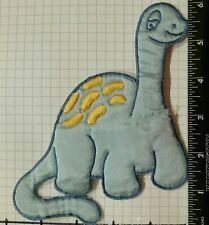 Blue Brontosaurus Cartoon Dinosaur Patch, Dino. vintage?