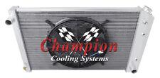 "2 Row 1"" Tubes Perf Radiator 19x28"",16"" Fan - 73-1987 Chevy C/K Series V8 Eng"