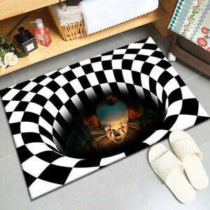 3D Stereo Joker Printed Halloween Anti-slip Home Room Rug Carpet Floor Room Mat
