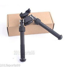"4.75""-9"" Tactical QD Picatinny RIS Rail Mount Foldable Adjustable Rifle Bipod #9"