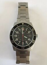 Vintage Swiss Army Lancer Dive Watch Stainless Steel Black Face Rotating Bezel