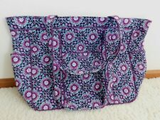 VERA BRADLEY GET CARRIED AWAY TOTE LILAC MEDALLION LARGE SIZE NWT PURPLE FLORAL