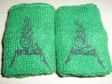 METALLICA SUPERB ROAD CREW ISSUE ONLY TOWELING GREEN WRIST BANDS WORLD TOUR 1987