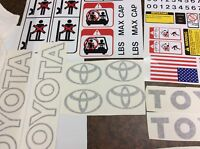 Forklift Decal Complete Toyota forklift decal kit with safety decals