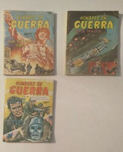 Hombres de Guerra 80's mexican comic spanish in sephia, lot of 3