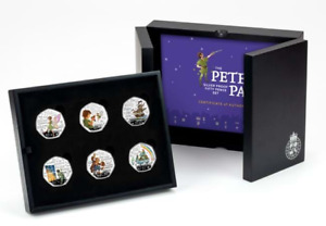 2020 Peter Pan Silver Proof 50p coins set