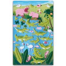 CUTE HIPPO & CROCODILE FELT STICKERS Sheet Animal Flamingo Scrapbook Sticker