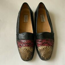 DAVINCI Men Dress Shoes Black Red Beige Genuine Crocodile Leather Loafers Sz 9 M