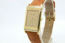 Jaeger Le Coultre Reverso Classique 18k Gold Diamond Set, Quartz  Watch.