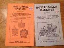 HOW TO MAKE BASKETS BOOKs Nathan Square Nantucket ARTS & CRAFTS Manual Booklet