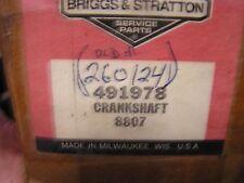 Briggs Crankshaft, 491978 -- 260124 -- 493547