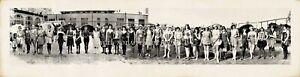 """1923 Bathing Beauties Galveston TX Vintage Panoramic Photo Panorama 27"""" Long"""