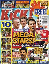 Kick Soccer Magazine Champions League Issue Shane Long David Silva Aaron Ramsey