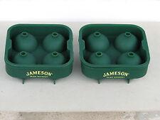 2pc Jameson ice cube rubber irish whisky green logo unused rare