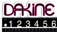 DAKINE PINK/BLACK STICKER Dakine 6.25 in x 2 in Surf Snow Skate Decal