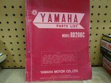 Vintage Genuine 1976 Yamaha Rd200C Parts Manual