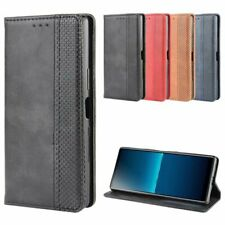 For Sony Xperia L4 Magnetic Book Flip PU Leather Wallet Card Holder Case Cover