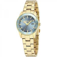 Watch Women Just Cavalli Just In Time R7253202501 gold steel light blue date