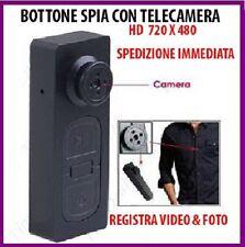 BOTTONE CON MICROCAMERA SPIA CIMICE VIDEO FOTO SPY CAM NASCOSTA MICRO CAMERA