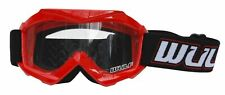 New Wulfsport Red Kids Off Road Goggles Motocross Quad Youth Childs Cr Crf Yz Kx
