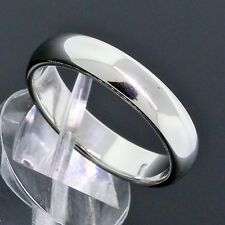 Tiffany&Co. Jewelry Platinum PT950 4mm Wide Wedding Band Ring Size 8