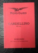 LIBRETTO USO E MANUTENZIONE MOTO GUZZI CARDELLINO 65