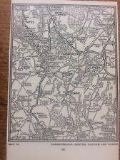 Farnborough Keaton Cudham Downe c1920 Map London South of the Thames 5x4�