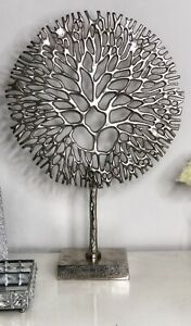 Extra Large Sliver Metalic Tree Of Life Ornament 51cm