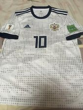 100% Official Russia Fyodor Fedor Smolov Away 2018 World Cup Jersey Shirt Soccer