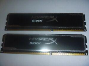 HyperX Black 8 GB (2x4GB) DDR3 1600 PC3 12800 Ram Memory 1.65V Dual CL9