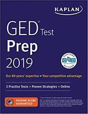 Kaplan GED Test Prep 2019: 2 Practice Tests + Proven Strategies