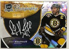 2008-09 UD The Cup Chirography Silver Ink Auto Ray Bourque /50