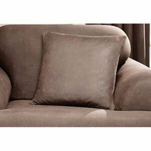 Sure Fit Stretch Leather Pillow brown new
