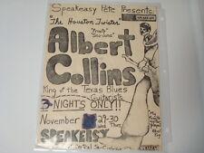 ALBERT COLLINS SPEAKEASY CONCERT SHOW POSTER BLUES BOSTON