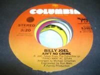 UNPLAYED NM! Rock 45 BILLY JOEL Ain't No Crime on Columbia