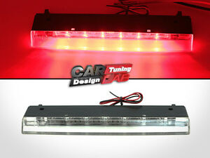 Rear Spoiler Clear LED 3rd Third Stop Brake Light Lamp For 02-09 Alfa Romeo 147