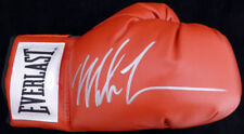 MIKE TYSON AUTOGRAPHED RED EVERLAST BOXING GLOVE RH SIGNED SILVER TRISTAR 128295