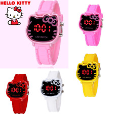 Hello kitty Led Digital Watch For Children Cartoon Wrist Watch 6Colors FREE SHIP