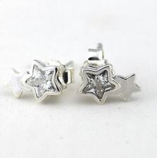 SILVER CRYSTAL STAR EARRINGS Earrings - .925 Sterling Silver ER3