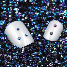 2000PCS Lot 3D 2mm Round AB Rhinestone Acrylic Nail Art Glitter Crystal Decor FT