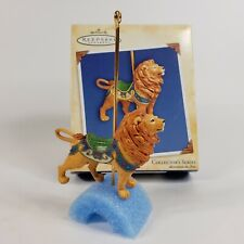 Hallmark Majestic Lion Carousel Ride Keepsake Ornament 2004