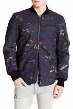 Diesel Men's Print W-Max Zip Up Jacket AW 15, Blue, Size Small, MSRP $298