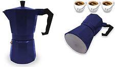 STUFA ESPRESSO COFFEE MAKER MOKA continentale a Filtro POT 3 Cup Navy