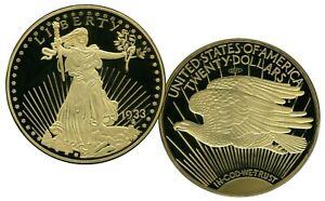 Jumbo 1933 Gold Double Eagle Commemorative Coin Value $199.95