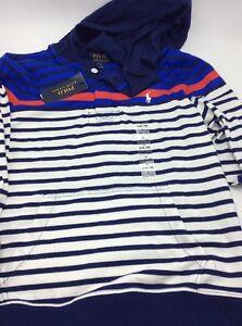 $49.50 Ralph Lauren Children wear Striped Hoodie Size L (14-16) UC1