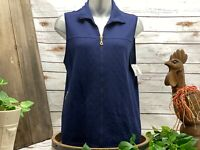 Drapers & Damons Womens NWT Quilted Sweater Vest Blue Size M New W Tags $49