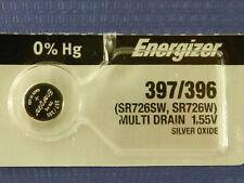 Energizer  397/396/ SR726W, SR726SW Batteries   Button Cell ,1Pc